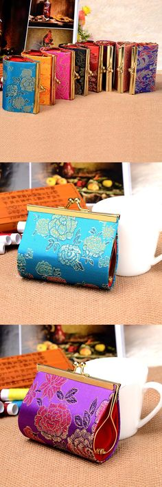 [Visit to Buy] 2016 New Arrival 8.5*7.5CM Chinese Style Handmade Silk Coin Purse fashion women wallets small Handbag Embroidery Ethnic Mini Co #Advertisement