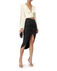 8e5589f54693 Ari Rhinestone-Ruched Skirt