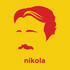 NIcola Tesla. http://hirsute.amorphia-apparel.com/design/nikola_tesla/
