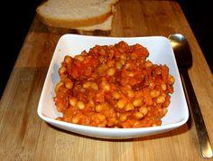 Csiperke blogja: Paradicsomos bab kolbásszal Chana Masala, Ethnic Recipes, Food, Essen, Meals, Yemek, Eten