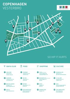Join us on a tour of Vesterbro & Kødbyen in Copenhagen! Here's a guide to the best restaurants, galleries & hot spots for the hip and trendy. Copenhagen Travel, Copenhagen Denmark, Copenhagen Cafe, Graphic Design Print, Map Design, Baltic Cruise, Choice Hotels, Tourist Map, City Maps