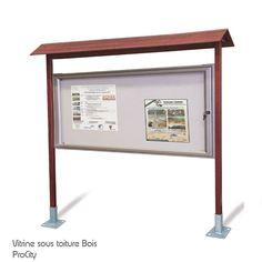 Vitrine d'informations extérieure, Bois, H 2.5 m, vitrine 100x201 cm, Design ProCity