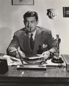 Preston Sturges at his desk.