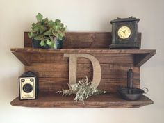Personalized Wall Shelf Made From Pallets  ---  #pallets