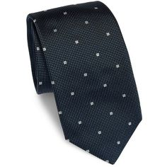 HUGO BOSS Textured Silk Tie ($100) ❤ liked on Polyvore featuring men's fashion, men's accessories, men's neckwear, ties, apparel & accessories and blue