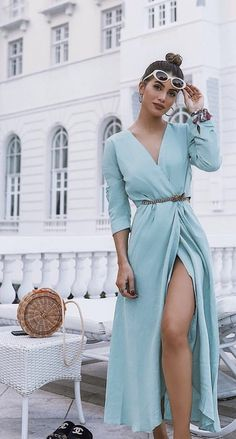 22 Ideas Long Wrap Dress Formal Classy For 2019 Pretty Dresses, Sexy Dresses, Beautiful Dresses, Casual Dresses, Dresses For Work, Wrap Dresses, Summer Dresses, Dresses Dresses, Winter Dresses