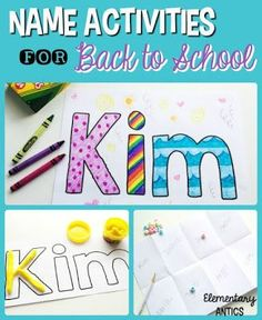 These back to school name activities are fun for students and help you and your students learn each other's names!