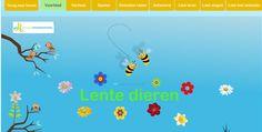http://www.muziekinschool.net/lentedieren#!__lentedieren   Leuke digibord-muziekles over lentedieren
