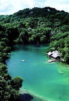Blue Lagoon - Jamaica ... my friends/family and I come here a lot #breathtaking I love it.