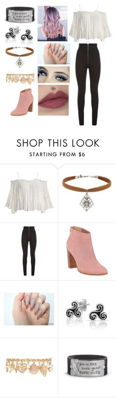 """""""Hale"""" by bluerose1238 ❤ liked on Polyvore featuring Sans Souci, Miss Selfridge, Balmain, Ted Baker, Bling Jewelry and Forever 21"""