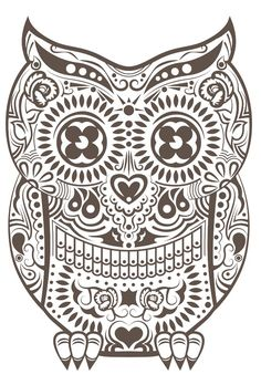 owl day of the dead tattoo - Google Search