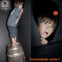 Tem ser mais curioso que uma criança ?