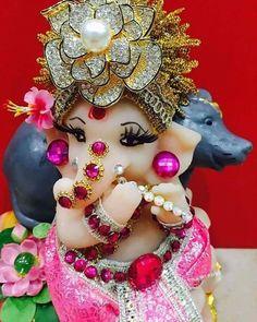 Image may contain: 1 person Shri Ganesh Images, Ganesh Chaturthi Images, Ganesha Pictures, Happy Ganesh Chaturthi, Jai Ganesh, Ganesh Lord, Ganesh Idol, Shree Ganesh, Lord Krishna