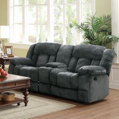 Carver Power Reclining Loveseat WConsole Power reclining loveseat