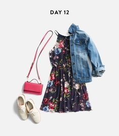 love the floral and dot dress. It's too short, and it would need sleeves but I LOVE it with the jean jacket for layering.