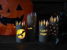 トイレットペーパーの芯と100均のLEDキャンドルライトで ハロウィングッズを作りました Halloween Window, Halloween 1, Halloween Paper Crafts, Halloween Decorations, Toilet Roll Art, Diy For Kids, Crafts For Kids, October Crafts, Diy And Crafts