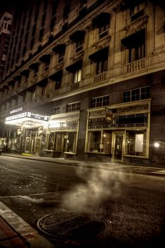 Eerie photo of the Omni Parker House Hotel in Boston.