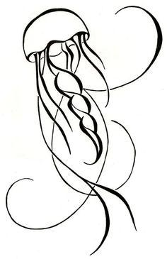 Jellyfish Drawing Original Tattoo, www.etsy.com/shop/silverwingstattoos