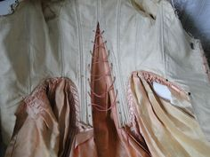 Circa 1774 Pink Silk Open Robe A La Francaise w Petticoat | eBay