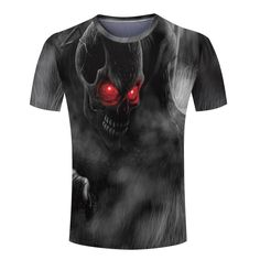 Cool 3D Skull/Final Fantasy Man Tee Shirt Personalized Round Neck Spider-Man/Joker Men T shirt Novelty monster tshirts Online Order