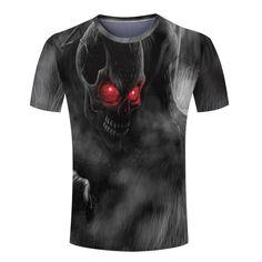 Cool 3D Skull/Final Fantasy Man Tee Shirt Personalized  Round Neck Spider-Man/Joker Men  T shirt  Novelty monster  tshirts