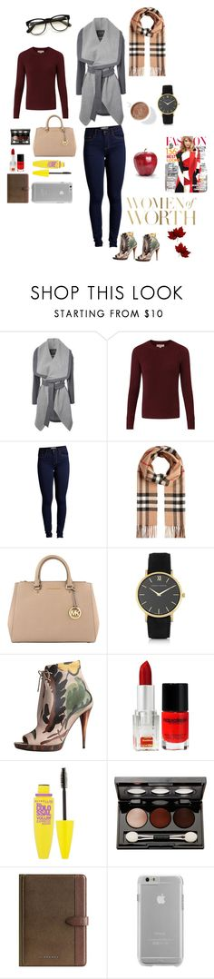 """""""unknown"""" by ms-jaramaya ❤ liked on Polyvore featuring Jane Norman, Burberry, Pieces, MICHAEL Michael Kors, Larsson & Jennings, Napoleon Perdis, Maybelline, Vincent Longo, Case-Mate and Gabor"""