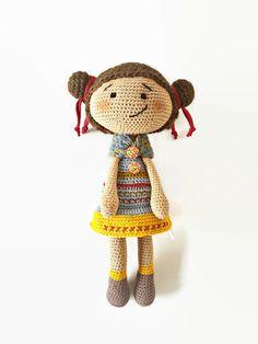 Crochet Amigurumi Doll, OOAK, plush doll, soft toy, stuffed toy, new baby gift, cute doll, art doll