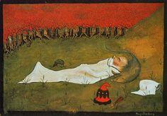 King Hobgoblin Sleeping, 1896 by Hugo Simberg on Curiator, the world's biggest collaborative art collection. Hobgoblin, Elf King, Oil Painting Gallery, Drawing School, Art Database, Art Google, Art Museum, Fairy Tales, Fine Art Prints