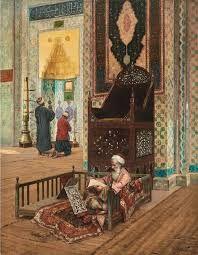 Interior of Mosque - Rudolph Ernst, 1854 - 1932 . Empire Ottoman, Middle Eastern Art, Arabian Art, Art Optical, Art Asiatique, Islamic Paintings, Old Egypt, Classical Art, Arabian Nights