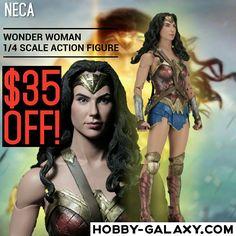 Pre-order at Hobby-Galaxy.com!  #NECA #WonderWoman #GalGadot 1/4 Scale #ActionFigure $35 off!  #wonderwomanmovie #wonderwomancosplay #dccomics #dccomic #comics #comichero #superheros #comicheroes #justiceleague #thejusticeleague #actionfigures #quarterscale #hobbygalaxy