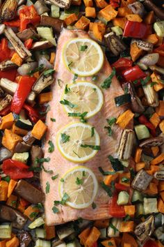 Roasted Rainbow Trout with Vegetables