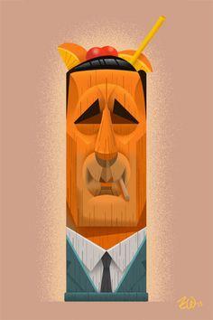 Don Draper Tiki Mug by ZackWallenfang on Etsy, $25.00
