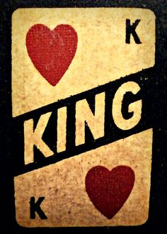 'king of hearts: vintage poker machine' by greg angus Coeur Tattoo, Tattoos, King Of Hearts Tattoo, Chess Quotes, Tarot, Vintage Playing Cards, Boss Bitch Quotes, Ace Of Spades, Decks