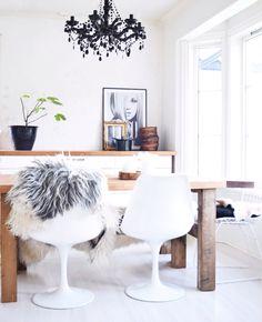 Kitchen chandelier eero saarinen white black rustic diy table