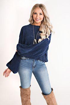 Sariyah Chenille Sweater (Navy)