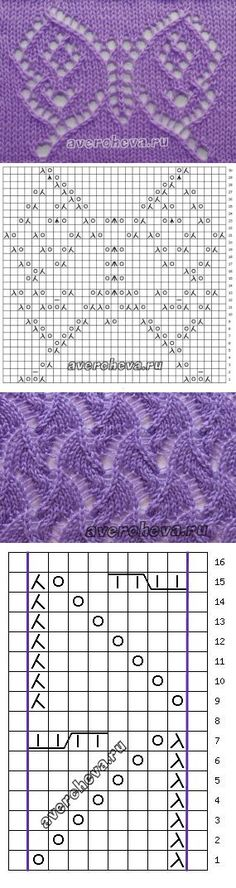 Knitting Patterns Techniques With your own hands Knitting Stiches, Crochet Stitches Patterns, Knitting Charts, Lace Patterns, Knitting Patterns Free, Hand Knitting, Stitch Patterns, Crochet Mat, Diy Crochet And Knitting