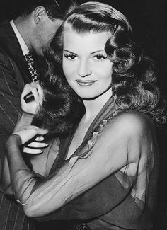 Rita Hayworth on the set of Down to Earth (1947)