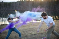 Holi powder engagement shoot by Pure Artistic Photography
