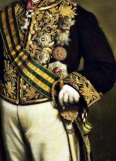 sadnessdollart: Portrait de Pieter Mijer.  Gouverneur général, Détail.  par Johan Heinrich Neuman 1874