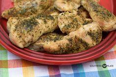 Zesty Baked Chicken Tenders ~ http://www.southernplate.com