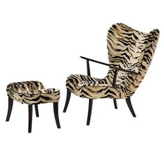 Lounge Chair & Ottoman | From a unique collection of antique and modern lounge chairs at http://www.1stdibs.com/furniture/seating/lounge-chairs/