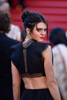 Kendall Jenner Wearing a Crop Top at Cannes Film Festival | POPSUGAR Fashion