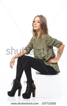 blonde young woman sitting in a chair Sitting Pose Reference, Art Reference, Sitting Poses, Baby Poses, Photography Tips, Royalty Free Stock Photos, Bomber Jacket, Models, Woman
