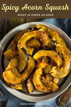 Let's deliver a little spark to a fall classic side. Spicy acorn squash mixes earthy, sweet, and spicy, and it's a delicious result. Cinnamon and brown sugar provide the sweet, while chili powder and cayenne pepper light the fire. #acornsquash #acornsquashrecipe #acornsquashrecipehealthy #spicyacornsquash #spicy #acornsquashbaked