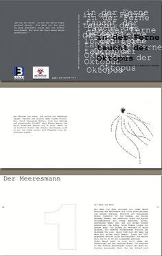 """Layout und Konzeption des Katalogs zur Ausstellung von Ankalina Dahlem   """" In der Tiefe taucht ein Ostopus"""" der Galerie Art Virus, Frankfurt"""