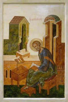St. evangelist Matthew Byzantine Icons, Byzantine Art, Life Of Christ, Orthodox Icons, Christian Art, Religious Art, Cathedral, Saints, Religion