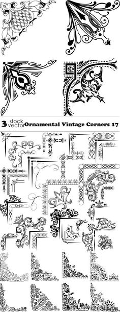 Vectors - Ornamental Vintage Corners 17