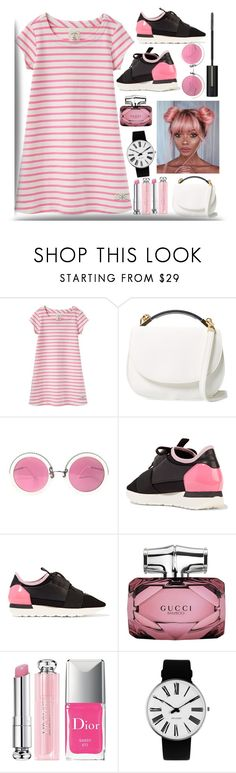 """""""date night#2"""" by shreya-stark ❤ liked on Polyvore featuring Joules, Cynthia Rowley, Christian Lacroix, Balenciaga, Gucci, Christian Dior, Rosendahl, Lancôme, date and Night"""