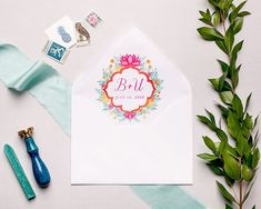 A personalized envelope liner in fun pops of color is the perfect final touch for your wedding invitation suite! 💌 (Photo by Wedding Invitation Envelopes, Handmade Wedding Invitations, Wedding Invitation Suite, Envelope Liners, Watercolor Wedding, Wedding Tips, Perfect Wedding, Etsy Shop, Decorating Ideas