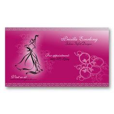 Fashionista Fashion Stylist/Designer Business Card